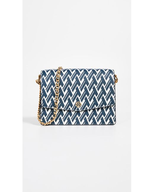 Tory Burch - Blue Robinson Printed Shoulder Bag - Lyst
