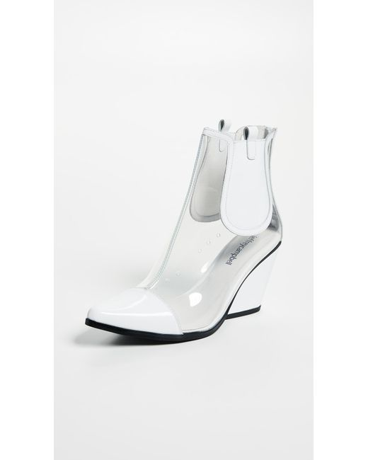 Jeffrey Campbell - White Aliases Pvc Ankle Boots - Lyst ...