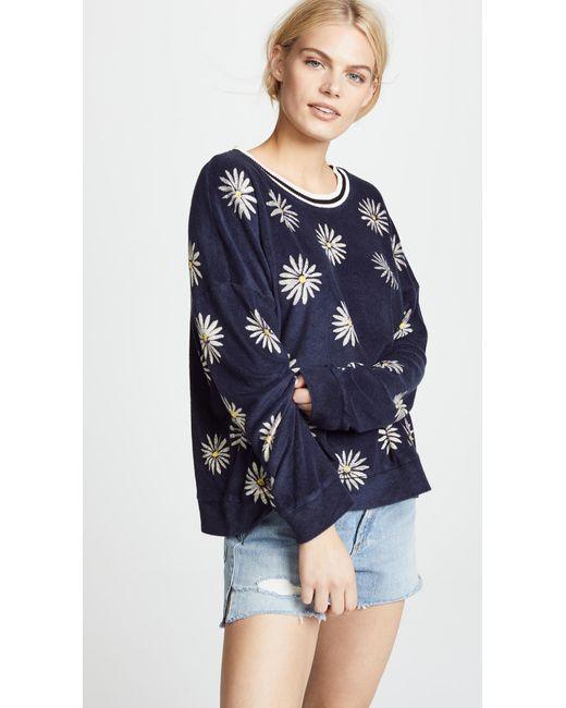 Splendid - Blue X Margherita Missoni Fiore Sweatshirt - Lyst