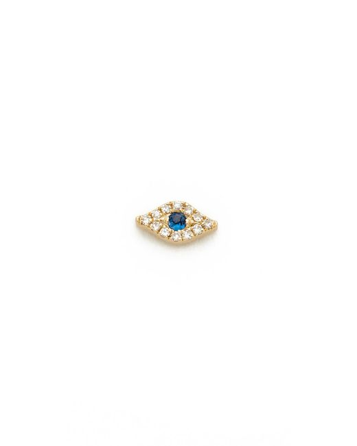EF Collection | Metallic Mini Diamond Evil Eye Single Stud Earring | Lyst
