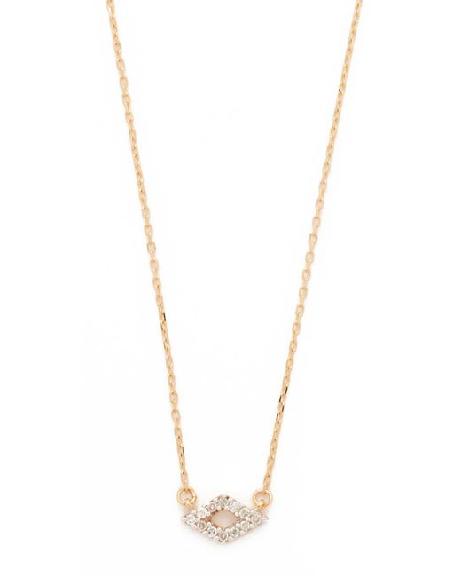 Adina Reyter | Metallic Super Tiny Pave Diamond Necklace | Lyst