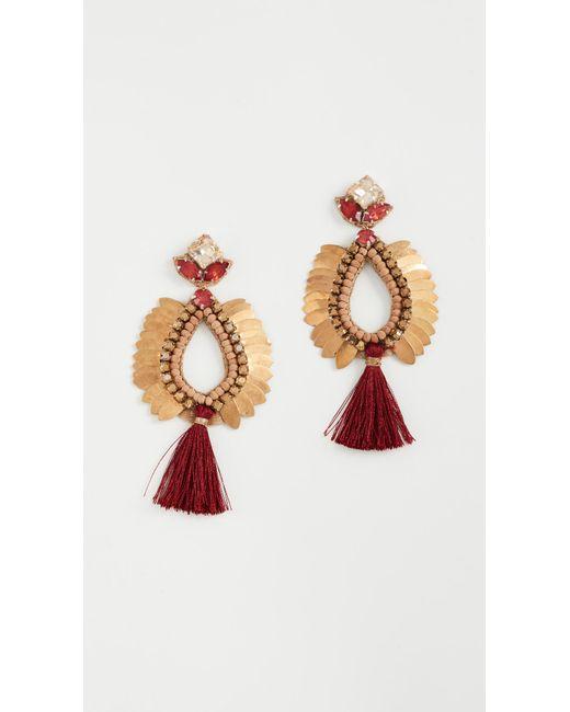 Deepa Gurnani | Red Deepa By Lieu Earrings | Lyst