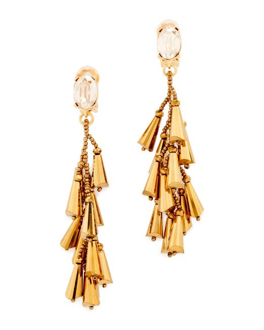Oscar de la Renta | Metallic Multi Cone Clip On Earrings | Lyst