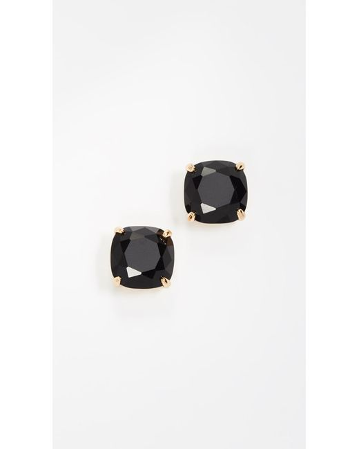 Kate Spade - Black Small Square Stud Earrings - Lyst
