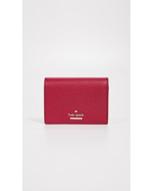 Kate Spade - Red Blake Street Dot Annabella Card Case - Lyst