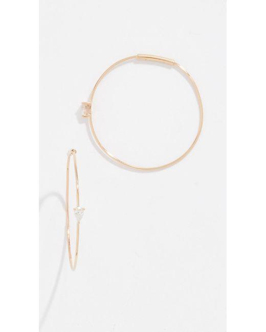 Lana Jewelry - Metallic 14k Solo Pear Diamond Hoops - Lyst