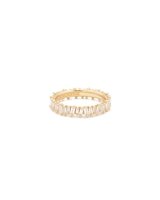 Suzanne Kalan - Metallic 18k Gold Diamond Baguette Ring - Lyst