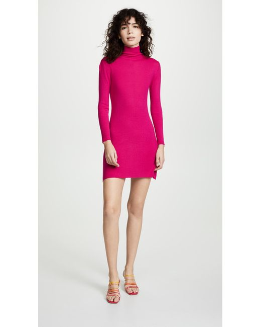 5ea3a535f7d1f Ryan Roche - Pink Cashmere Turtleneck Sweater Dress - Lyst ...