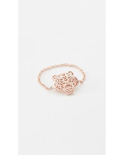 KENZO   Pink Mini Tiger Ring   Lyst