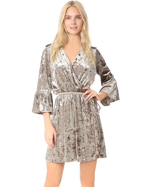 L'Agence - Multicolor Riley Wrap Dress - Lyst