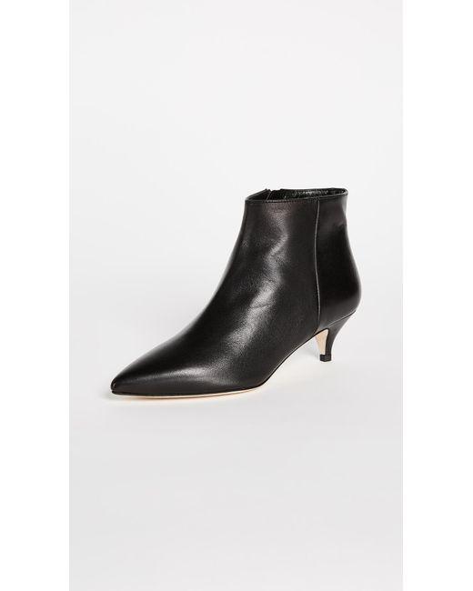 Kate Spade   Black Olly Kitten Heel Ankle Booties   Lyst