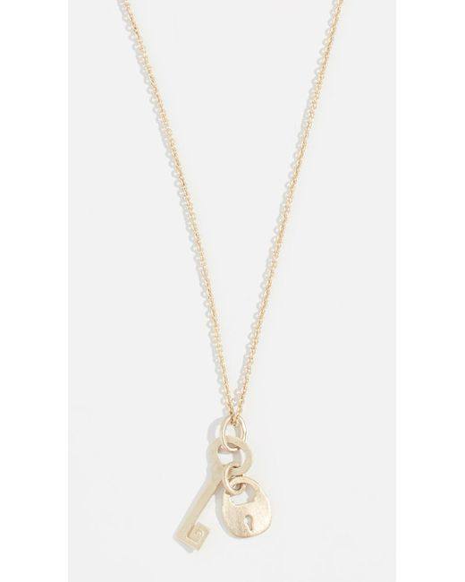 Tory Burch - Metallic Surreal Lock & Key Pendant Necklace - Lyst