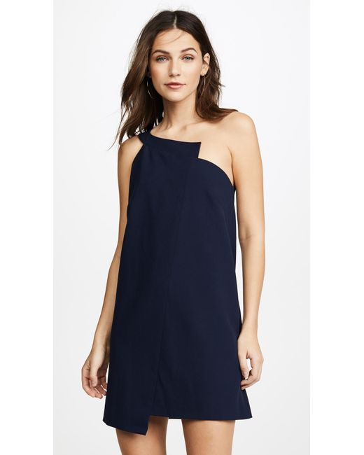 Michelle Mason | Blue One Shoulder Shift Dress | Lyst