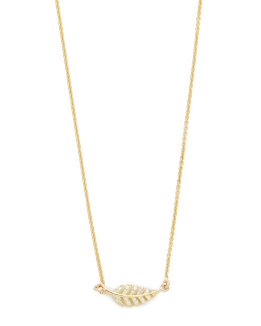 Jennifer Meyer | Blue Diamond Mini Leaf Necklace | Lyst