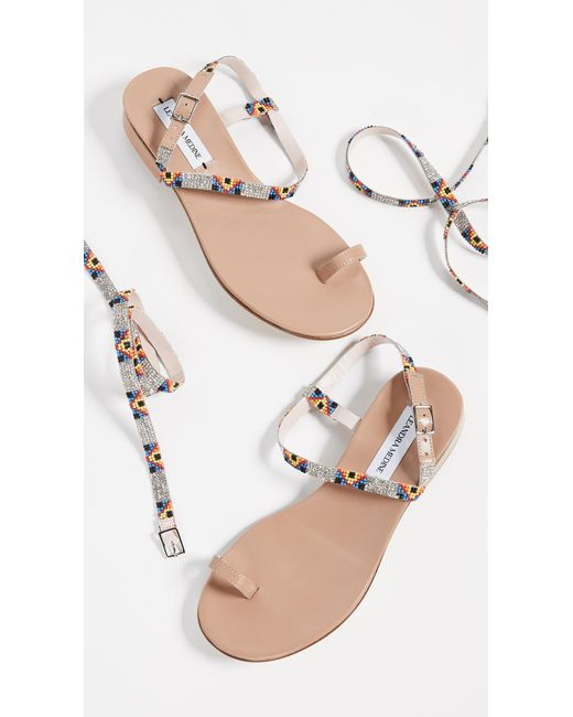 a500bcb19cf8 ... LEANDRA MEDINE - Multicolor Beaded Sandals - Lyst ...