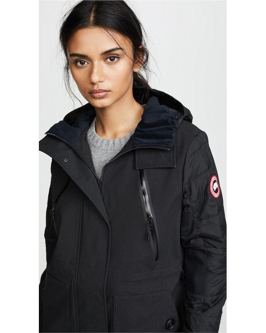 ... Canada Goose - Black Sabine Coat - Lyst ...