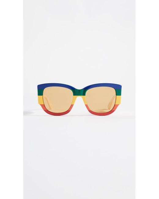 a15eedab4c9 Gucci - Multicolor Sylvie Bold Cat Eye Sunglasses - Lyst ...