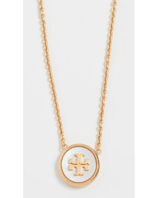 Tory Burch - Metallic Semi Precious Pendant Necklace - Lyst