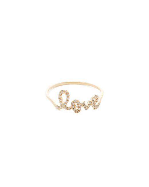 Sydney Evan - Metallic Love Ring - Lyst