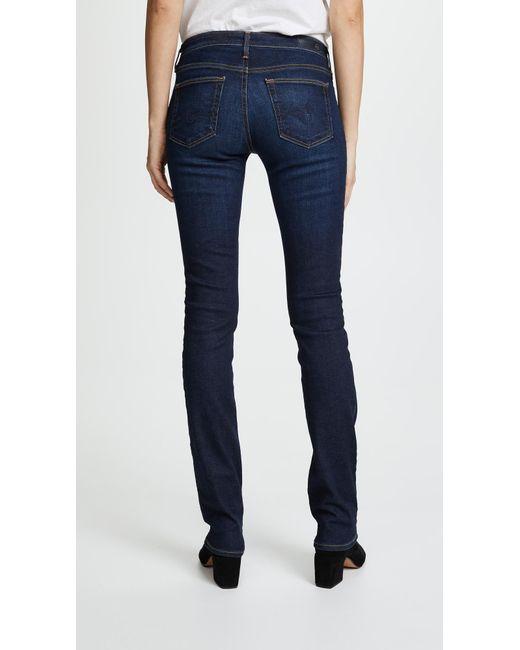 3c8543831cb8 ... AG Jeans - Blue Harper Essential Straight Leg Jeans - Lyst ...