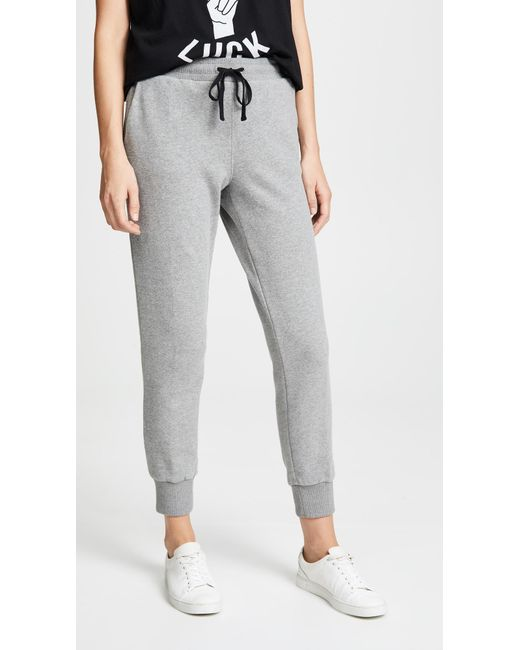 Madewell - Gray Terry Trouser Sweatpants - Lyst