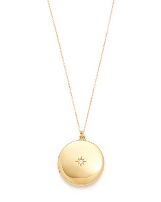 Sasha Samuel   Metallic Single Star Round Locket Necklace   Lyst