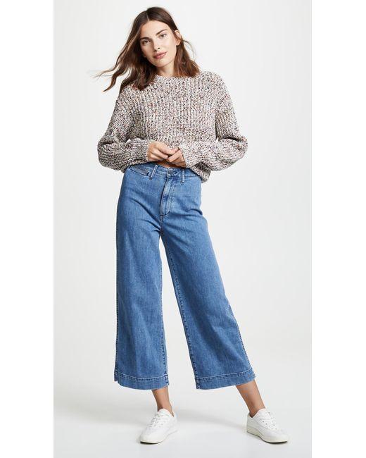 723959d0aa93e ... Madewell - Blue Emmett Wide Leg Crop Jeans - Lyst ...