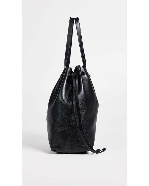 b384c49f0 Madewell The Drawstring Transport Tote in Black - Save 1% - Lyst