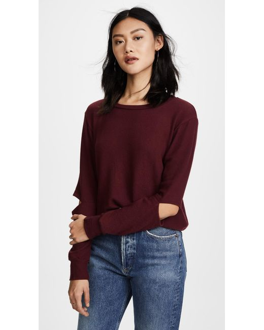 LNA | Multicolor Brushed Odeon Sweatshirt | Lyst