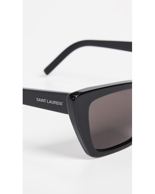 cfbe0e99bb ... Saint Laurent - Multicolor Narrow Cat Eye Sunglasses - Lyst ...