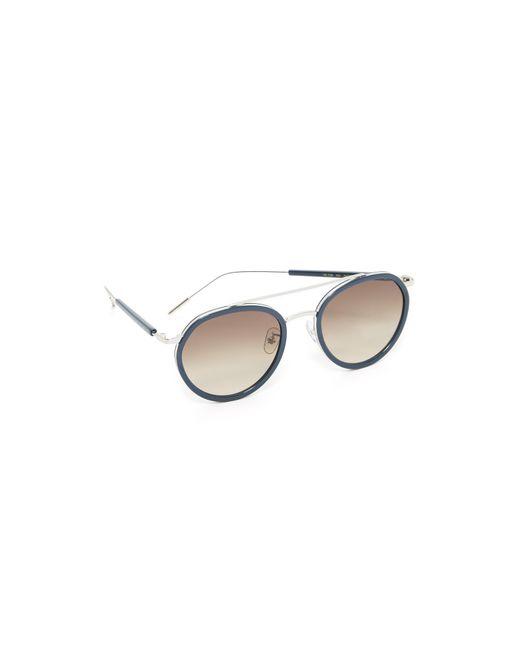 Vedi Vero | Brown Round Rim Aviator Sunglasses | Lyst
