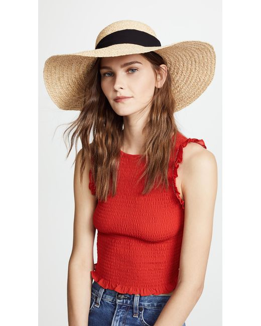 Hat Attack - Black Braided Sunhat - Lyst