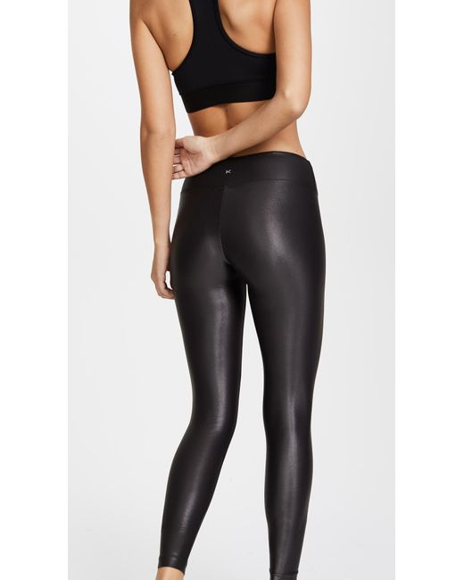 1cfb96c258b75 ... Koral - Black Lustrous High Rise Leggings - Lyst ...