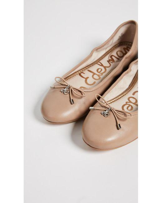 19ce526c53c77a ... Sam Edelman - Natural Felicia Ballet Flats - Lyst ...