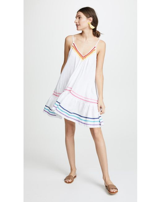 9seed - White St. Tropez Ruffle Mini Cover Up - Lyst