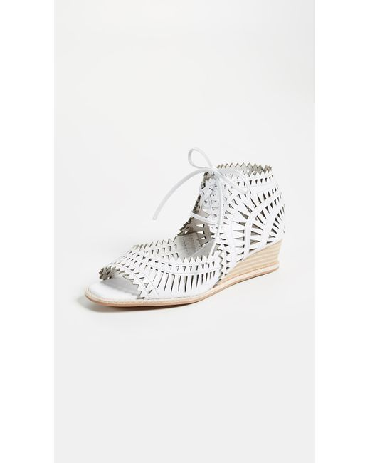 Jeffrey Campbell - White Rodillo Wedge Sandals - Lyst