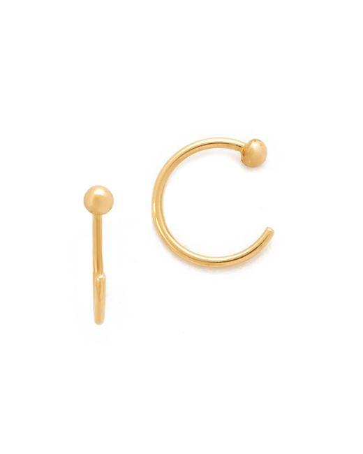 Zoe Chicco - Metallic Reversible Earrings - Lyst
