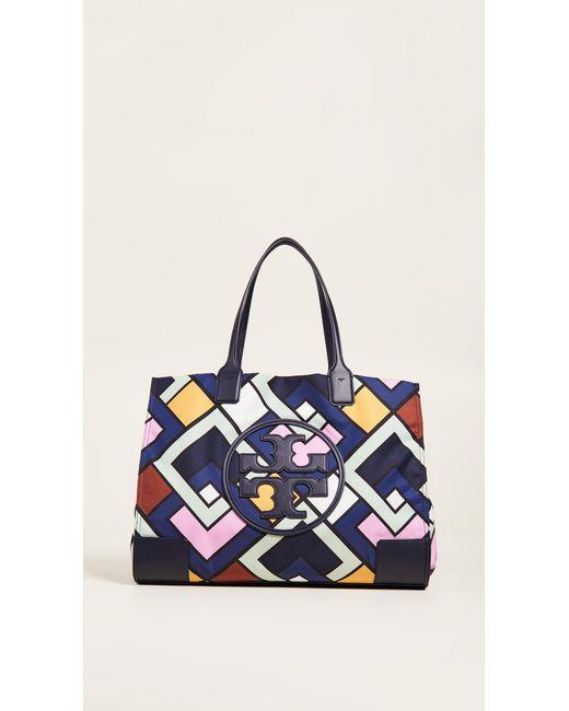 Tory Burch - Blue Ella Printed Tote Bag - Lyst