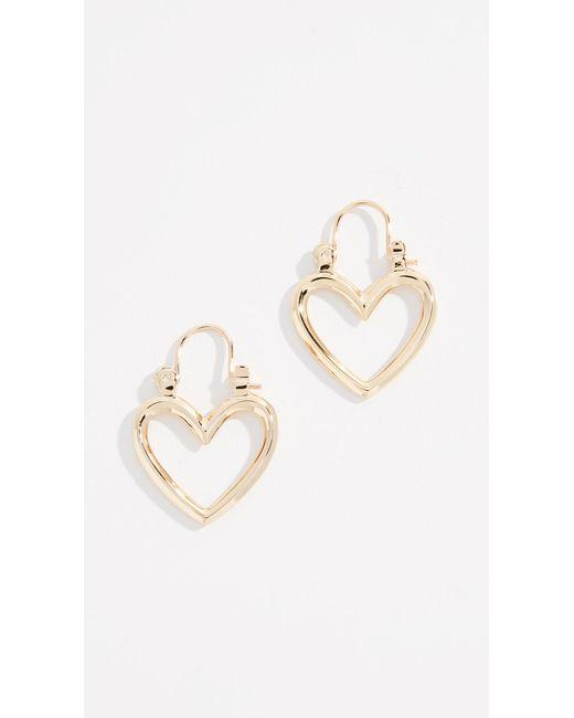 Luv Aj - Metallic The Mini Heartbreaker Hoop Earrings - Lyst