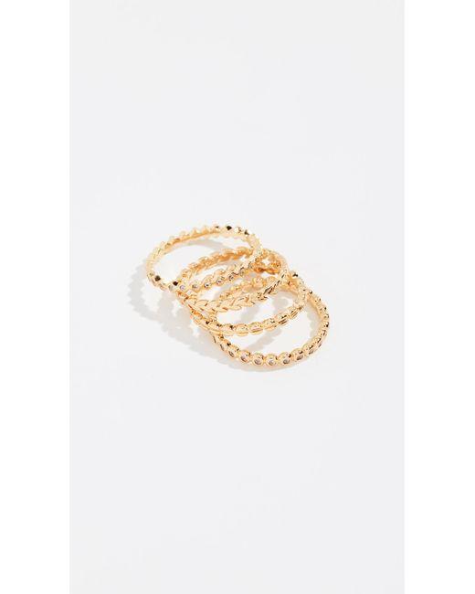 Gorjana - Metallic Mini Stackable Ring Set - Lyst