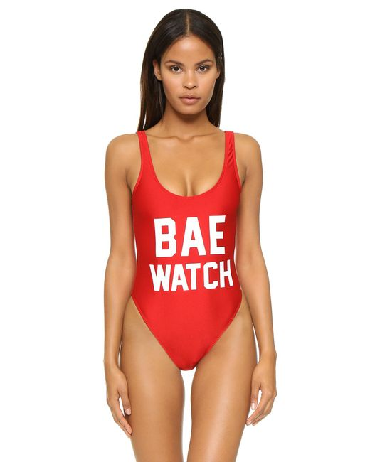 Private Party - Red Bae Watch One Piece Bathing Suit - Lyst