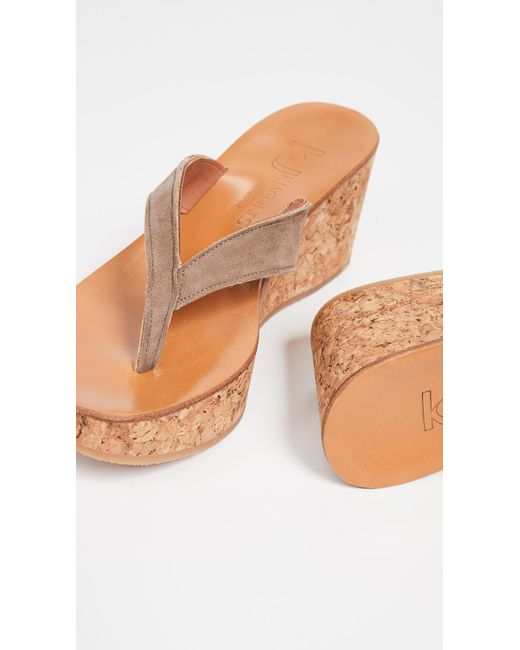 fc3db995e6fc ... K. Jacques - Multicolor Diorite Thong Wedges - Lyst ...