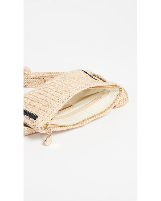 4f93e6731c25 ... Zimmermann - Natural Raffia Stripe Belt Bag - Lyst ...