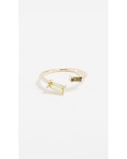 Paige Novick - Metallic Peridot & Tourmaline 18k Gold Ring - Lyst