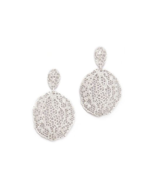 Aurelie Bidermann | Metallic Lace Earrings | Lyst