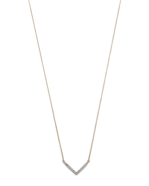 Adina Reyter | Metallic Tiny Pave V Necklace | Lyst