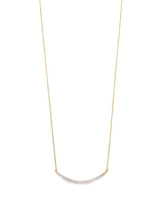 Adina Reyter | Metallic Large Pave Curve Necklace | Lyst