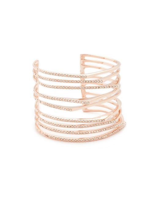 Alexis Bittar | Multicolor Crystal Origami Cuff Bracelet | Lyst