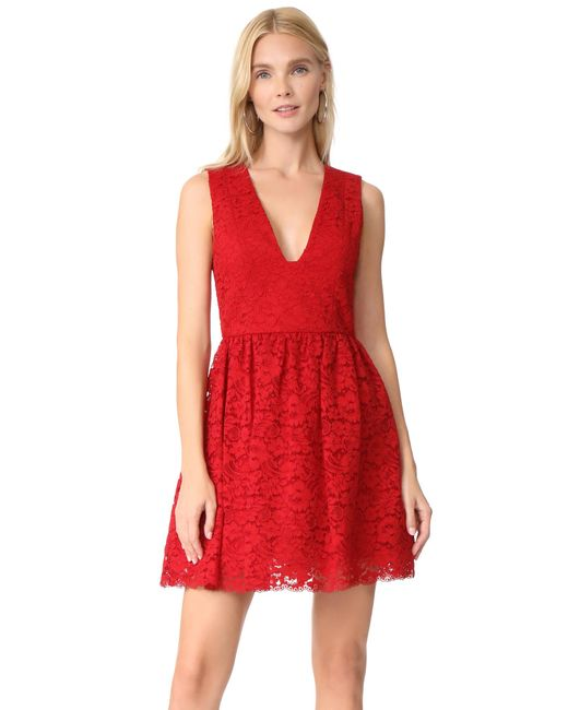 Alice + Olivia | Red Kappa Party Dress | Lyst