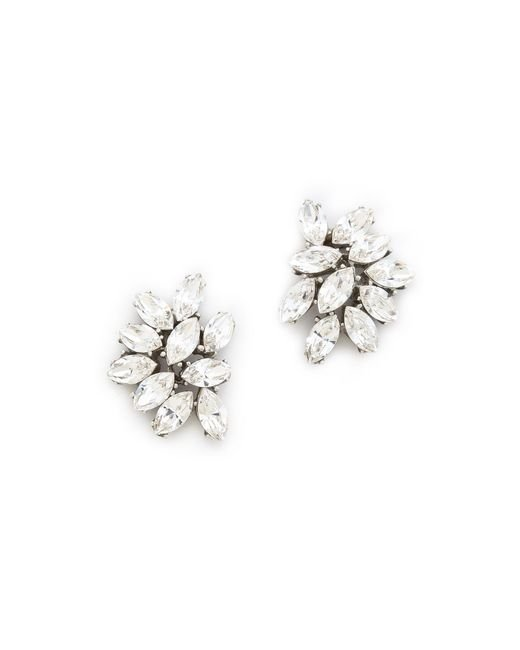 Ben-Amun | Metallic Crystal Cluster Earrings | Lyst